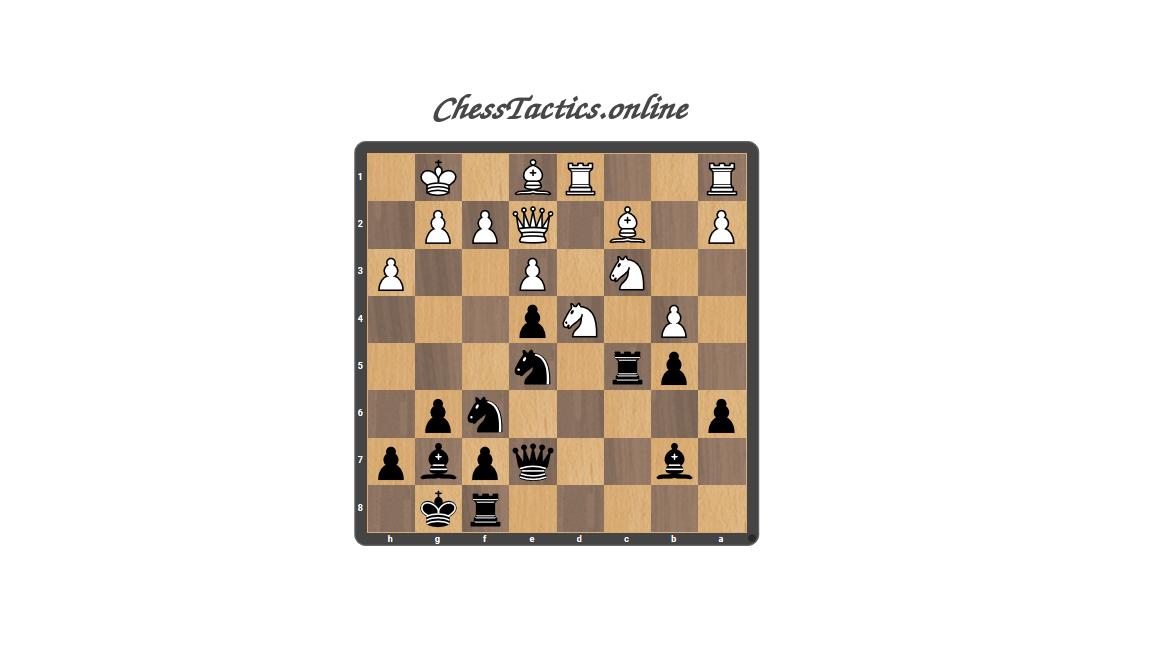 Chess Tactics Puzzles Open Line Advanced Level