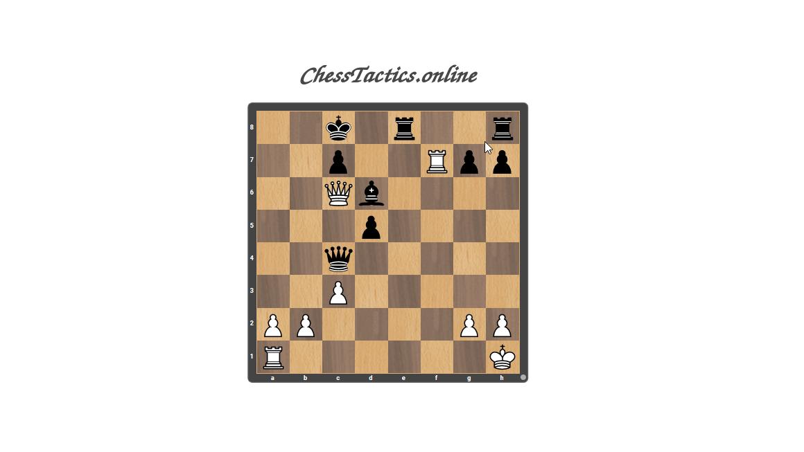 Chess Tactics Puzzles Open Line Beginner Level