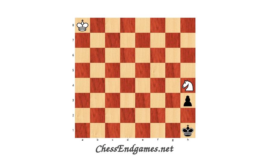 Fahrni H. Keemink J. Knight vs Pawn draw 1928.