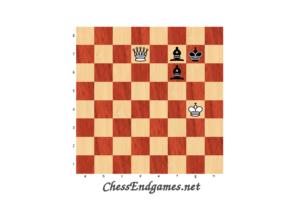 Lolli 1763. – Queen vs Two Bishops